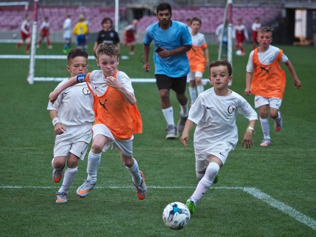 The Europa Cup Tournament; Kids in Camp Nou